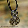 Espiral doble colgante celta plata Artesania gallega regalos